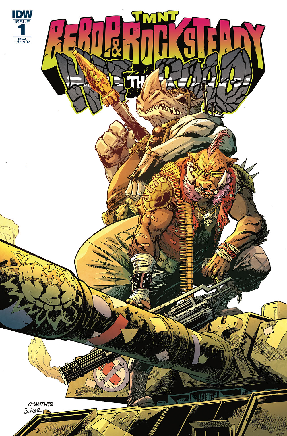 Bebop & Rocksteady Hit the Road #1 variant by Corey Smith & Brittany Peer