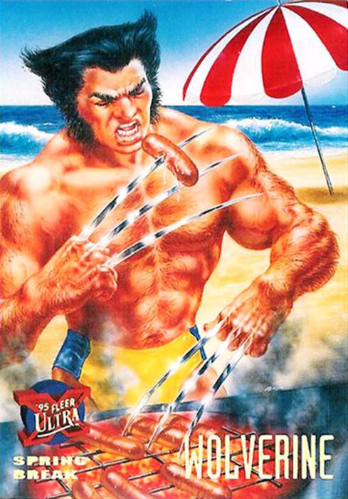 Wolverine Fleer Trading Card Image 1995