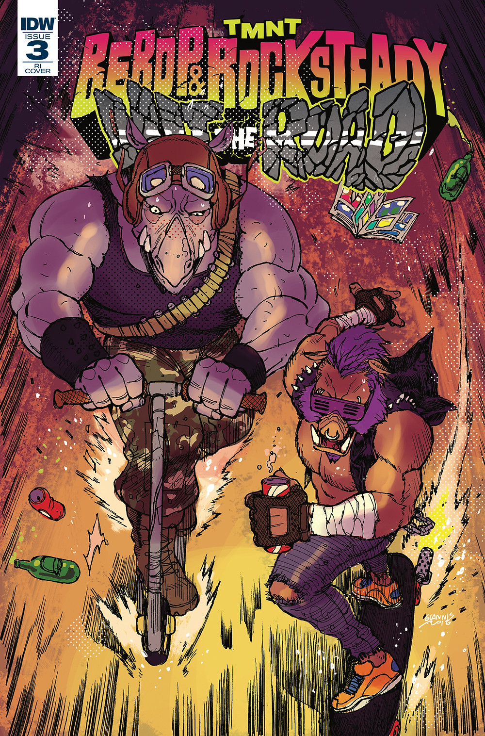 Bebop & Rocksteady: Hit the Road #3 Retailer incentive cover by Milonogiannis, Giannis