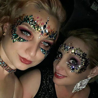 New Orleans Wedding. Formal Event. Mardi Gras Masks. Glitter and Fac ewels