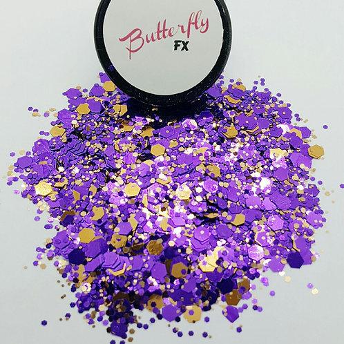 Purple & Gold Chunky Glitter