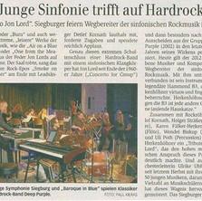 Junge Symphonie Siegburg & BAROQUE IN BL