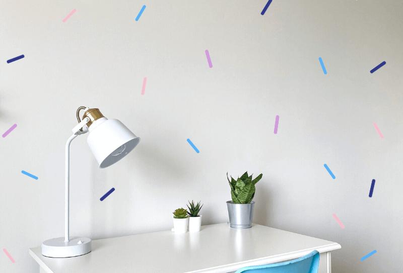 Confetti Wall Decals, 4 colours