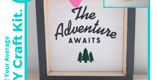 DIY Framed Wood Sign Kit