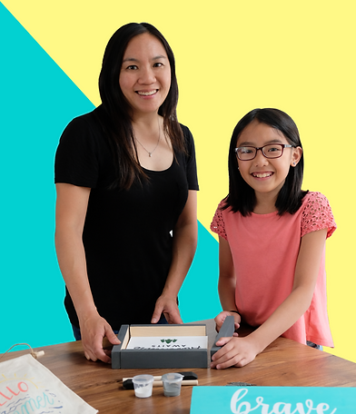 Mom and daughter duo behind Wood + Stencil Co. DIY Craft Kit Business in Vancouver Burnaby