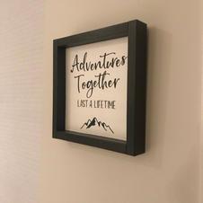 Adventures Together - Framed Wood Sign