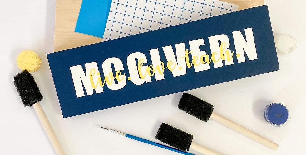 DIY Teacher Name Sign Kit