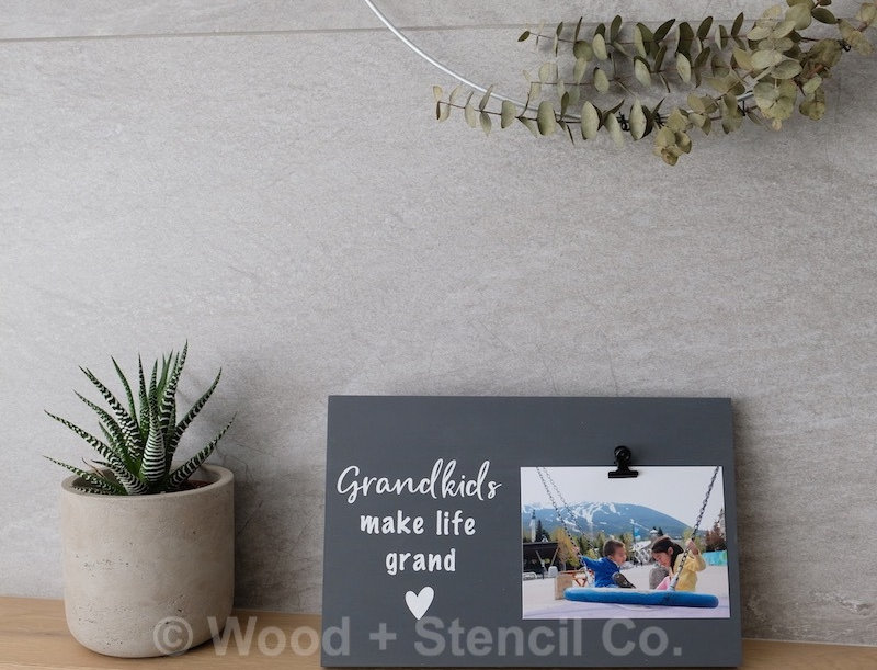 Ready-Made Wood Photo Sign