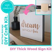 DIY Thick Wood Sign Kit