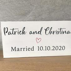 Custom marriage sign