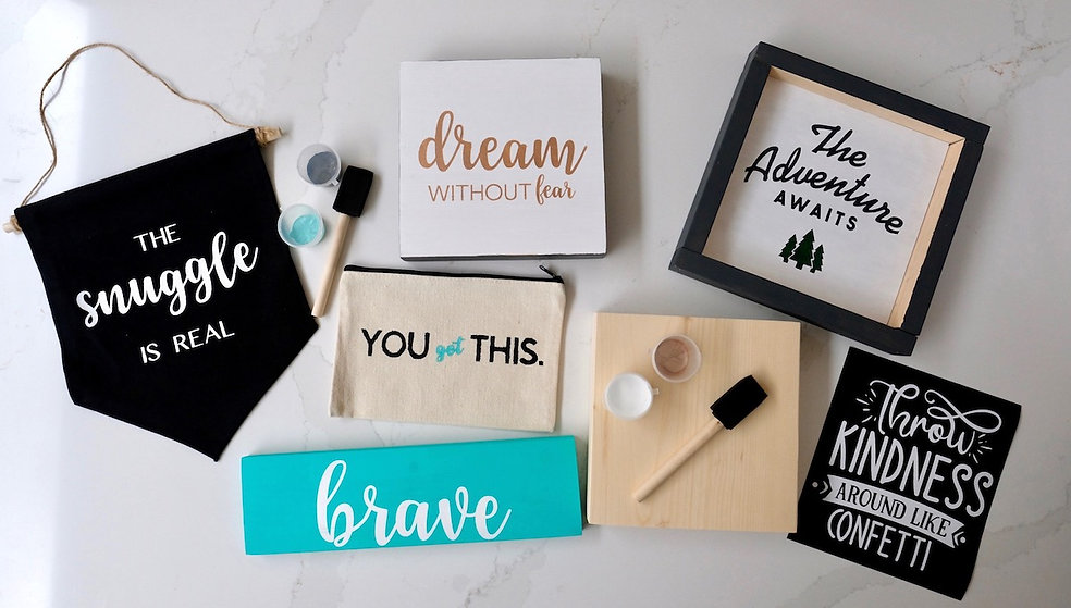 Wood + Stencil Co. DIY Craft Kits