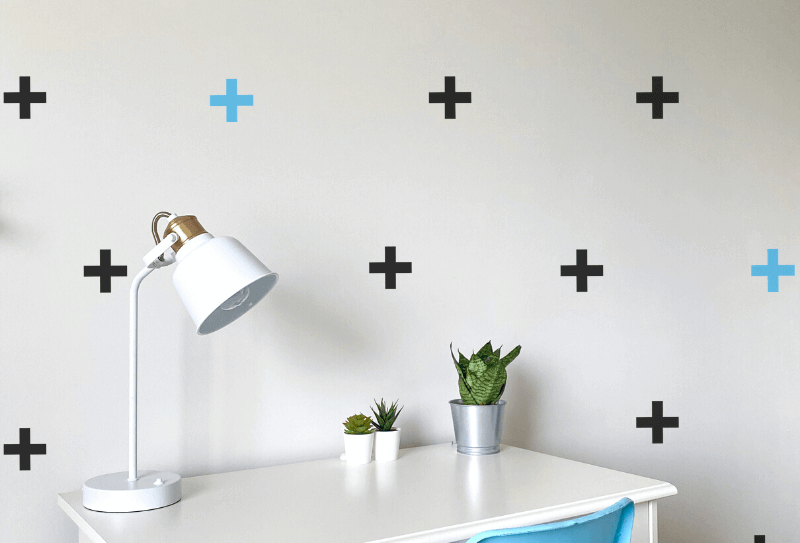 Plus Signs Wall Decals