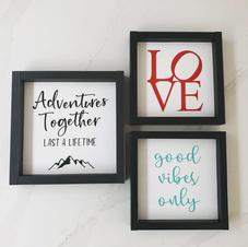 Framed Wood Signs