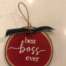 Custom 'Best Boss Ever' Ornament