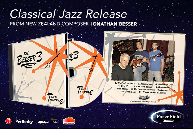 "Classical Jazz Album ""Time Travels"" by the Besser Three The Besser 3"