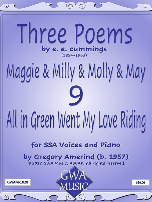 All in Green Went My Love Riding - Piano
