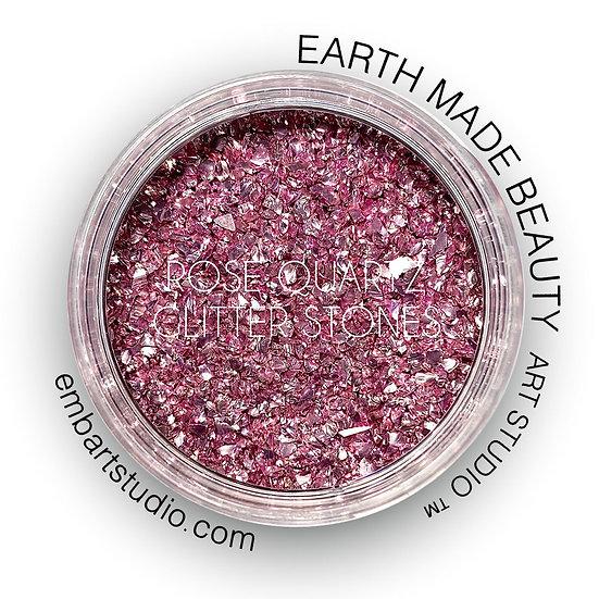 Rose Quartz Glitter Stones