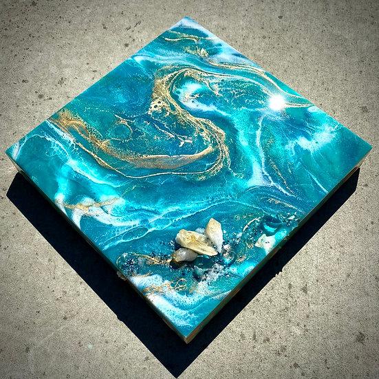 Abstract Aqua Agate