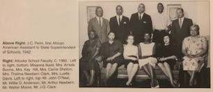 Soror Luella McCall Davis seated far right