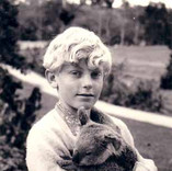 Young Brett in Australia with his Koala named 'Bluey'.