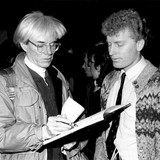 Andy Warhol and Brett became friends in the 70s as Andy was inspired by Brett's portrait of Marilyn Monroe. Shown here, Andy sketching a portrait as a gift to Brett.