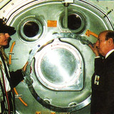 Brett and Apollo XII Commander Pete Conrad.