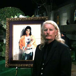 Brett at Michael Jackson's private funeral at Forest Lawn Memorial Park in Glendale - September 3, 2009