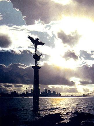 """Sydney Harbor Guardian Angel"""