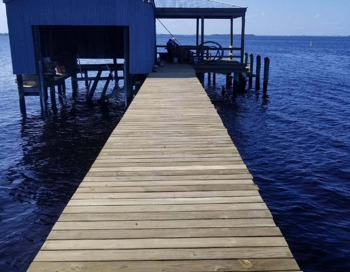 Finished Dock and Boathouse