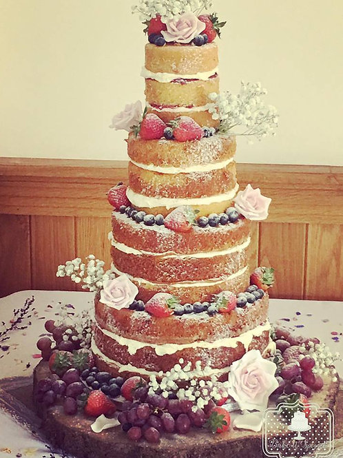 4 tier naked cake (full payment)