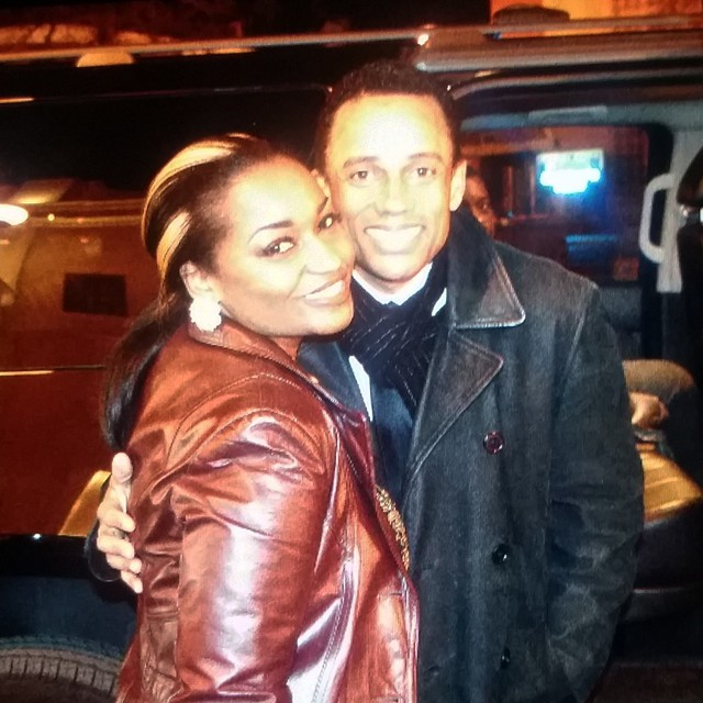 Actor Hill Harper and Ashleigh Demi
