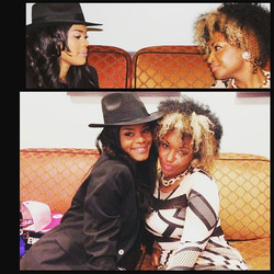 Lots of love and laughs with _TeyanaTaylor after her performance
