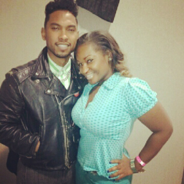 Singer Miguel and Ashleigh Demi
