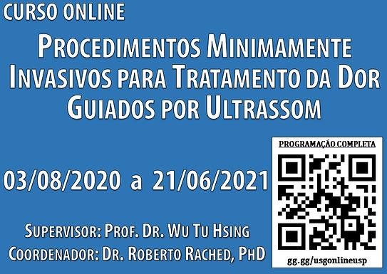 03 de Agosto - Curso Online de Procedimentos Minimamente Invasivos para Tratamento da Dor Guiados por USG