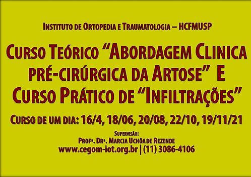 20 de agosto - Curso Teórico e Prático Artrose e Infiltrações