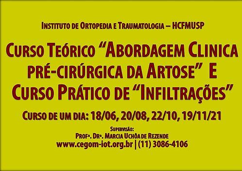 18 de Junho - Curso Teórico e Prático Artrose e Infiltrações