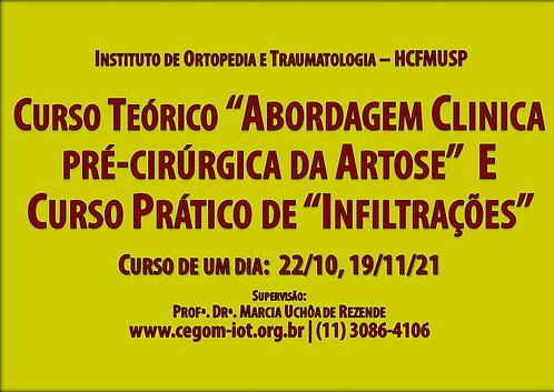 22 de outubro - Curso Teórico e Prático Artrose e Infiltrações