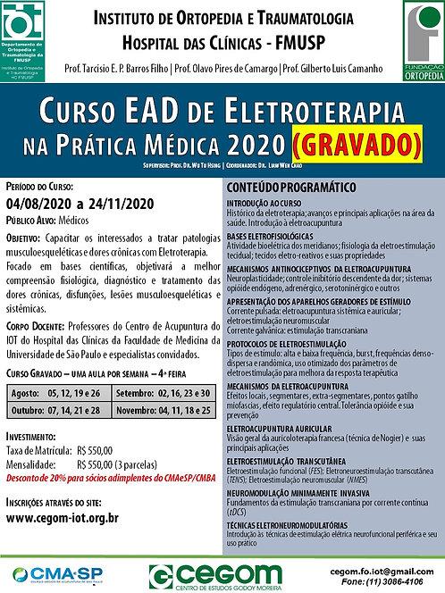 04 de agosto -Curso Online de Eletroterapia na Prática Médica