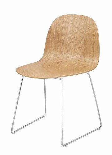 Gubi 2D Dining Chair w/ Sledge Base