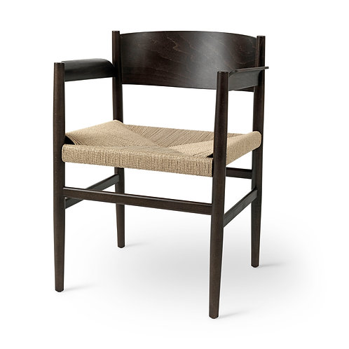 Nestor Dining Arm Chair w/ Paper Cord Seat
