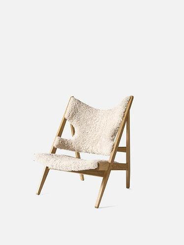 Knitting Chair w/ Sheepskin Upholstery