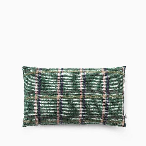 Flair Cushion 35x60 Green Tweed