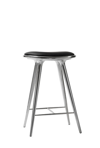 High Stool : Recycled Aluminium : Counter Height