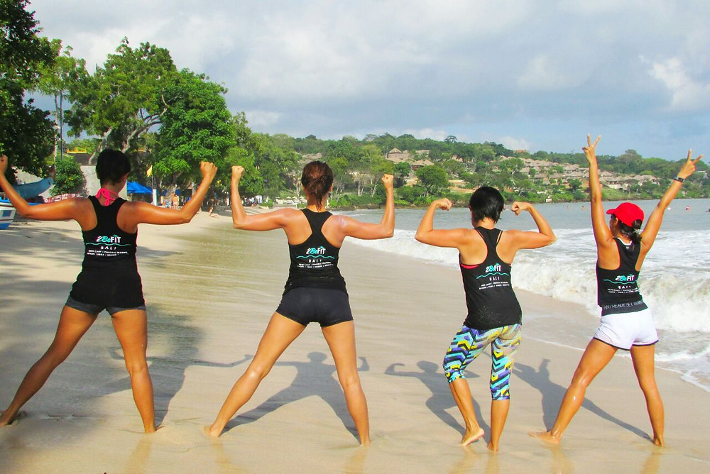 2befit bali, women exercise in bali