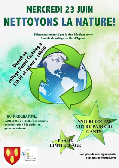 affiche ramassage de déchets