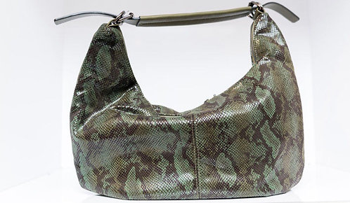 Snakeskin Hobo Purse Olive