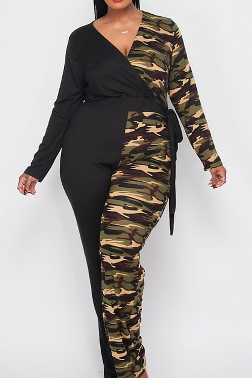 PLUS Yin and Yang Camouflage Jumpsuit