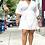 Thumbnail: Eartha Wrap Dress WHT