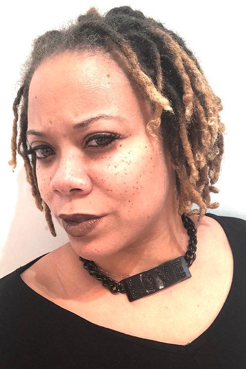 Love Choker Necklace Black