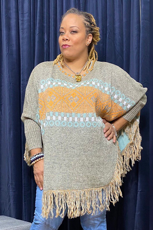 Fringe Pullover Sweater